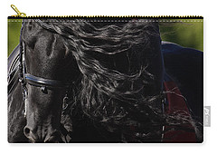 Carry-all Pouch featuring the photograph Friesian Beauty D8197 by Wes and Dotty Weber