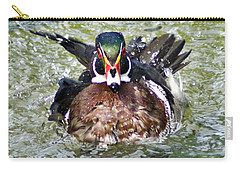 Frisky - Wood Duck Carry-all Pouch by Adam Olsen