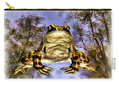 Carry-all Pouch featuring the digital art Frog by Daniel Janda