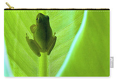 Carry-all Pouch featuring the photograph Frog In Blankie by Faith Williams