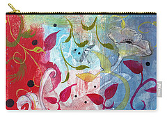 Carry-all Pouch featuring the painting Frolic by Robin Maria Pedrero