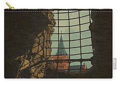 Carry-all Pouch featuring the drawing From A Castle by Meg Shearer