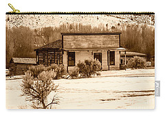 From Saloon To Store Front And Home In Sepia Carry-all Pouch by Sue Smith