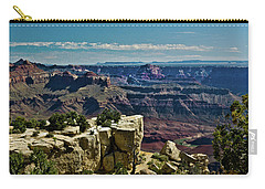 Carry-all Pouch featuring the photograph From Yaki Point 2 Grand Canyon by Bob and Nadine Johnston