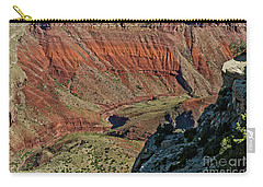 Carry-all Pouch featuring the photograph From Yaki Point 5 Grand Canyon by Bob and Nadine Johnston