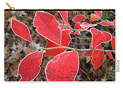 Frosted Blueberry Leaves Carry-all Pouch