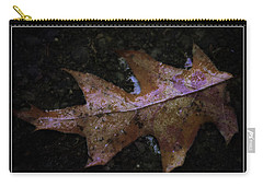 Carry-all Pouch featuring the photograph Frosted Oak by Tikvah's Hope