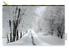 The Long Frosted Road Carry-all Pouch
