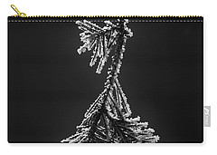 Frosted Pine Branch Carry-all Pouch