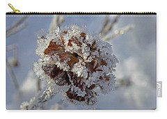 Frosted Willow Rose Carry-all Pouch by Cathy Mahnke