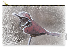Carry-all Pouch featuring the photograph Frosty Cardinal by Patti Deters