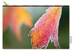 Frosty Leaf Carry-all Pouch by Kerri Farley
