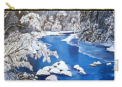 Carry-all Pouch featuring the painting Frosty Morning by Sharon Duguay