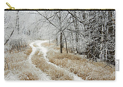 Carry-all Pouch featuring the photograph Frosty Trail 2 by Penny Meyers