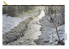Carry-all Pouch featuring the painting Frozen Air by Felicia Tica