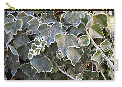 Carry-all Pouch featuring the painting Frozen Hedera Helix 2 by Felicia Tica