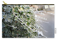 Carry-all Pouch featuring the painting Frozen Hedera Helix by Felicia Tica