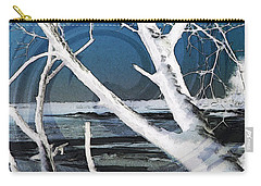 Carry-all Pouch featuring the photograph Frozen In Time by Shawna Rowe