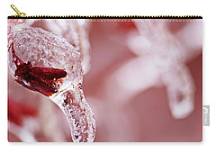 Carry-all Pouch featuring the photograph Frozen Jewel  by Debbie Oppermann