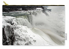Frozen Niagara And Bridal Veil Falls Carry-all Pouch