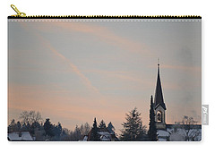 Carry-all Pouch featuring the photograph Frozen Sky 2 by Felicia Tica