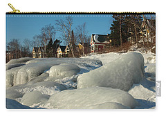 Carry-all Pouch featuring the photograph Frozen Surf by James Peterson