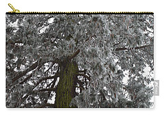 Carry-all Pouch featuring the photograph Frozen Tree 2 by Felicia Tica