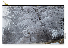 Carry-all Pouch featuring the photograph Frozen Tree by Michael Chatt