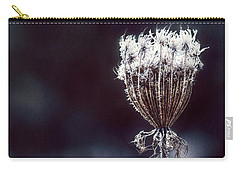 Carry-all Pouch featuring the photograph Frozen Wisps by Melanie Lankford Photography