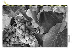 Fruit -grapes In Black And White - Luther Fine Art Carry-all Pouch