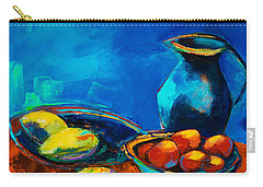 Carry-all Pouch featuring the painting Fruit Palette by Elise Palmigiani