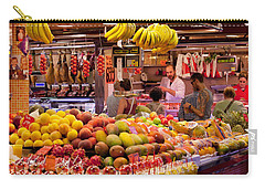 Fruits At Market Stalls, La Boqueria Carry-all Pouch by Panoramic Images