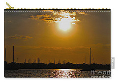 Carry-all Pouch featuring the photograph Ft. Pierce Florida Docks At Dusk by Janice Rae Pariza