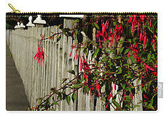 Fuchsias  And Fence Posts Carry-all Pouch