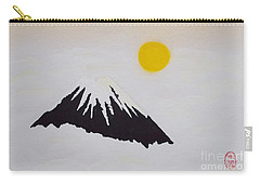 Fuji Through The Cloudy Mist Carry-all Pouch by Pg Reproductions