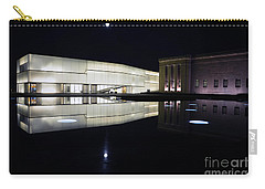 Full Moon Over Nelson Atkins Museum In Kansas City Carry-all Pouch