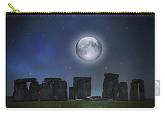 Full Moon Over Stonehenge Carry-all Pouch