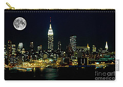 Full Moon Rising - New York City Carry-all Pouch by Anthony Sacco