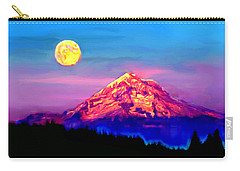 Full Moon Rising Over Mount Hood Oregon Carry-all Pouch