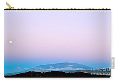 Carry-all Pouch featuring the photograph Full Moon Rising Over Mauna Kea Kona Side by Lehua Pekelo-Stearns