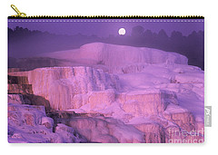 Full Moon Sets Over Minerva Springs On A Winter Morning Yellowstone National Park Carry-all Pouch