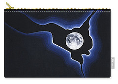 Full Moon Silver Lining Carry-all Pouch
