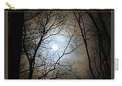 Full Moon Through The Trees Carry-all Pouch
