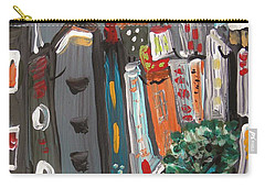 Carry-all Pouch featuring the painting Full Moon-wind In The Tree by Mary Carol Williams