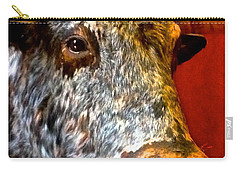 Carry-all Pouch featuring the photograph Full Of Bull by Dee Dee  Whittle