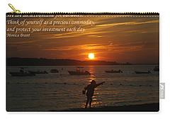 Fun At Sunset/ Inspirational Carry-all Pouch by Karen Silvestri