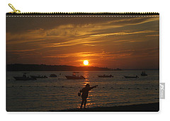Fun At Sunset Carry-all Pouch by Karen Silvestri
