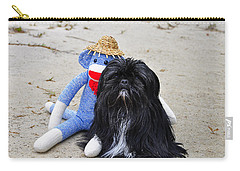 Funky Monkey And Sweet Shih Tzu Carry-all Pouch