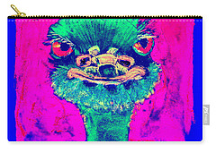 Funky Ostrich Cool Dude Art Prints Carry-all Pouch