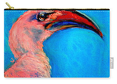 Funky Red-billed Hornbill Art Print Carry-all Pouch